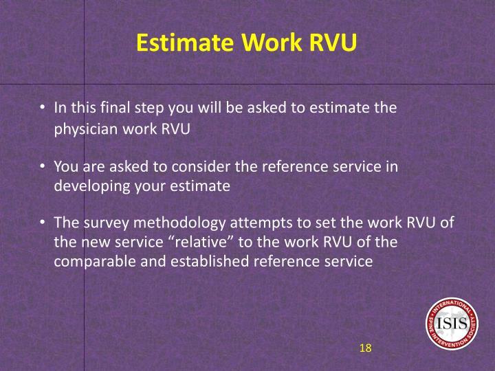 Estimate Work