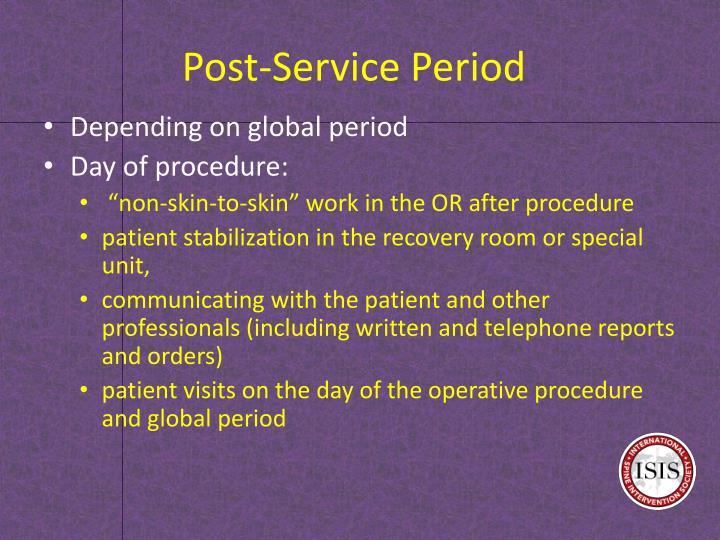 Post-Service Period
