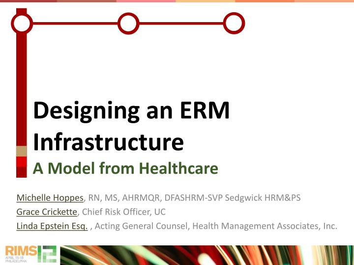 Designing an erm infrastructure a model from healthcare
