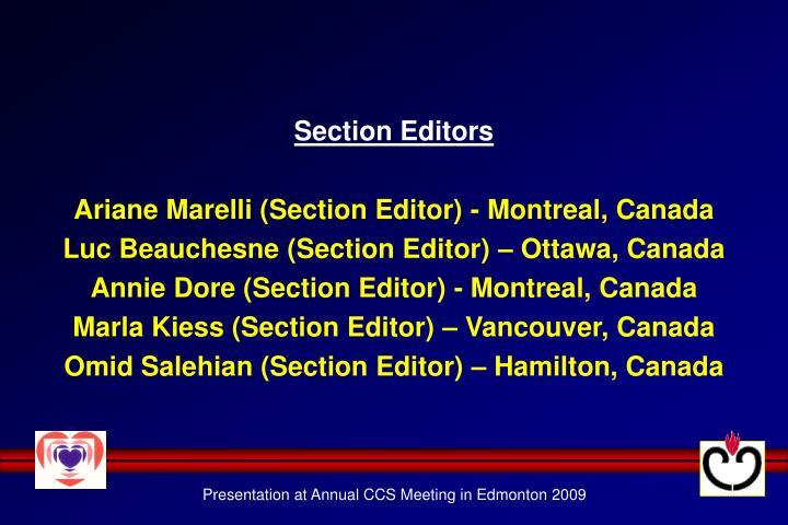 Section Editors