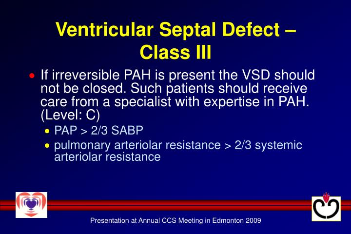 Ventricular Septal Defect – Class III