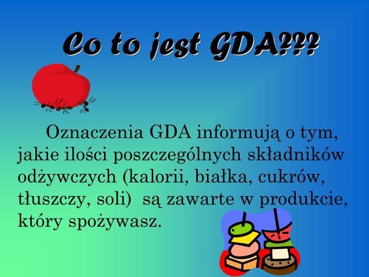 Co to jest GDA???