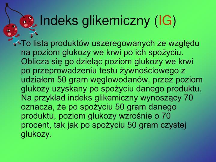Indeks glikemiczny (