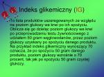 indeks glikemiczny ig