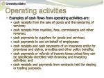 operating activities