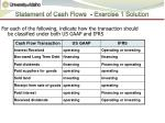 statement of cash flows exercise 1 solution