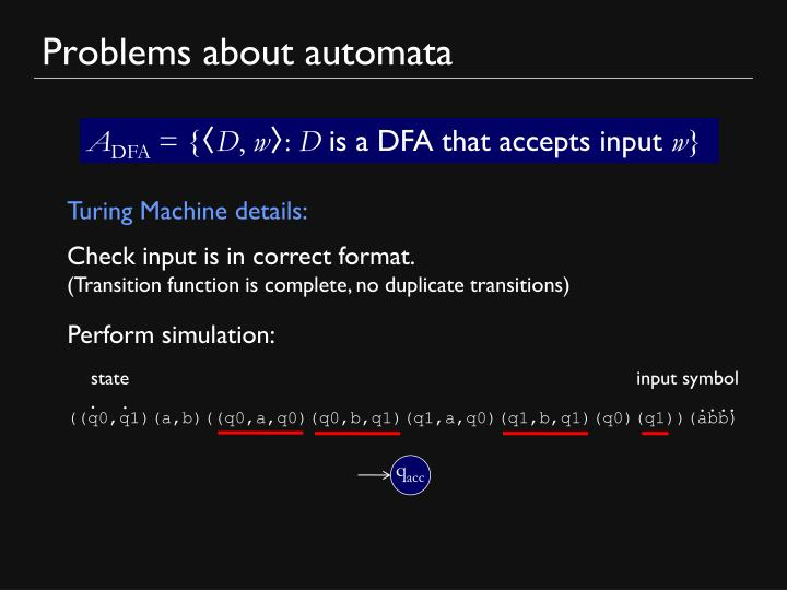 Problems about automata