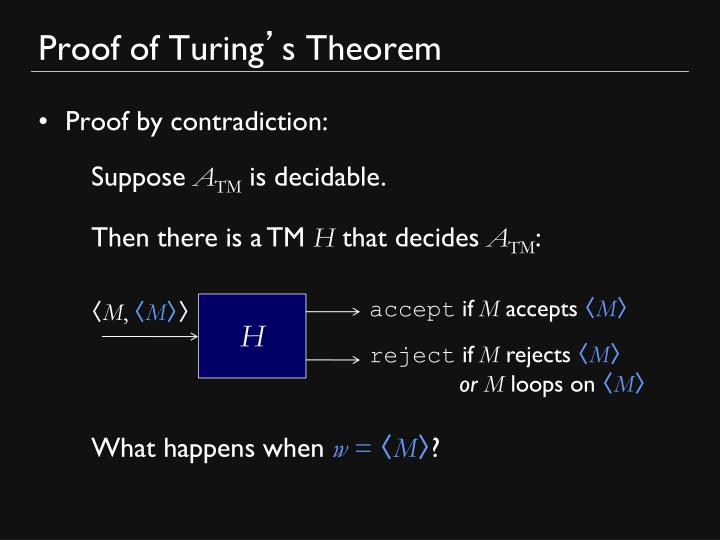 Proof of Turing