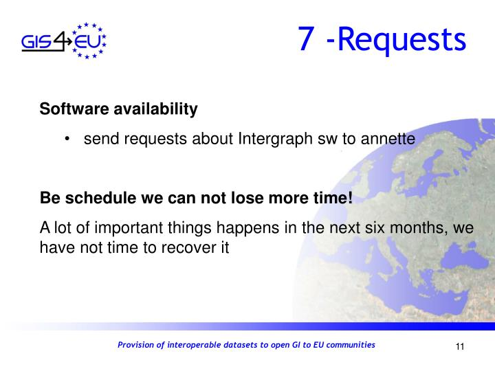 7 -Requests