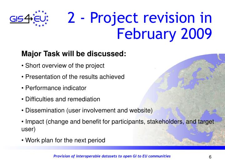 2 - Project revision in February 2009