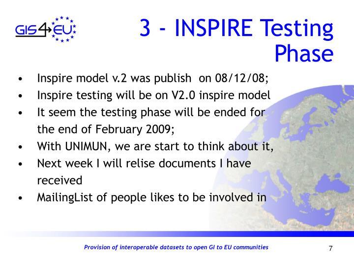 3 - INSPIRE Testing Phase
