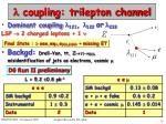coupling trilepton channel