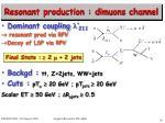 resonant production dimuons channel