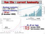 run iia current luminosity