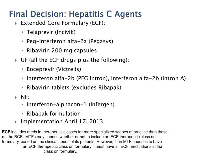 Final Decision: Hepatitis C Agents