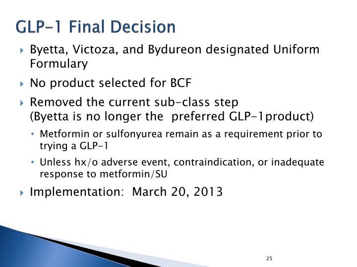 GLP-1 Final Decision