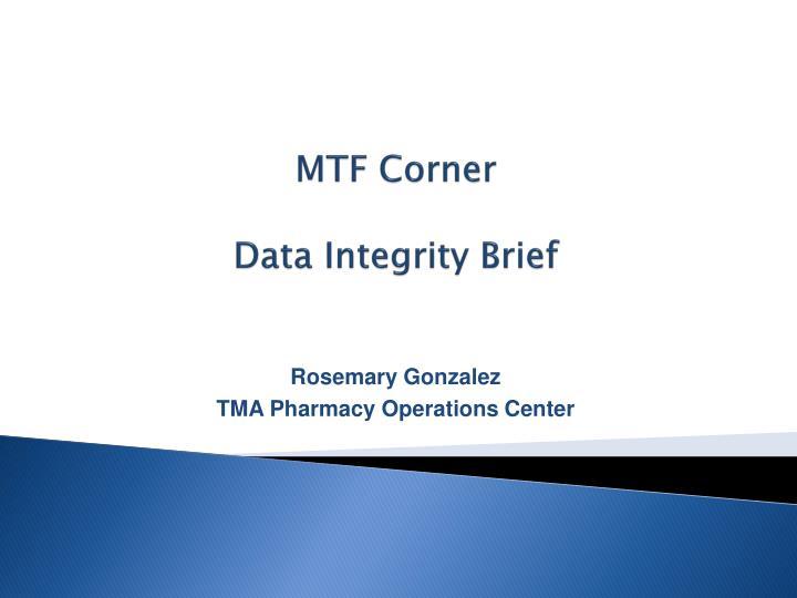 MTF Corner