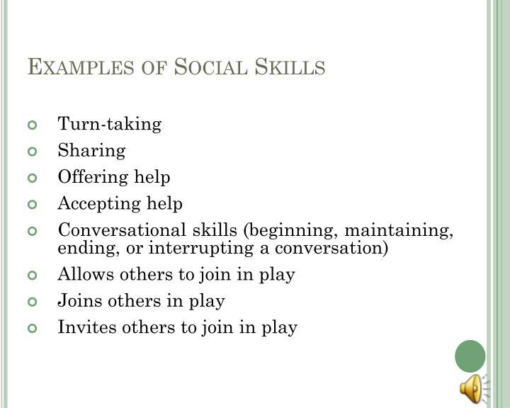 Examples of Social Skills