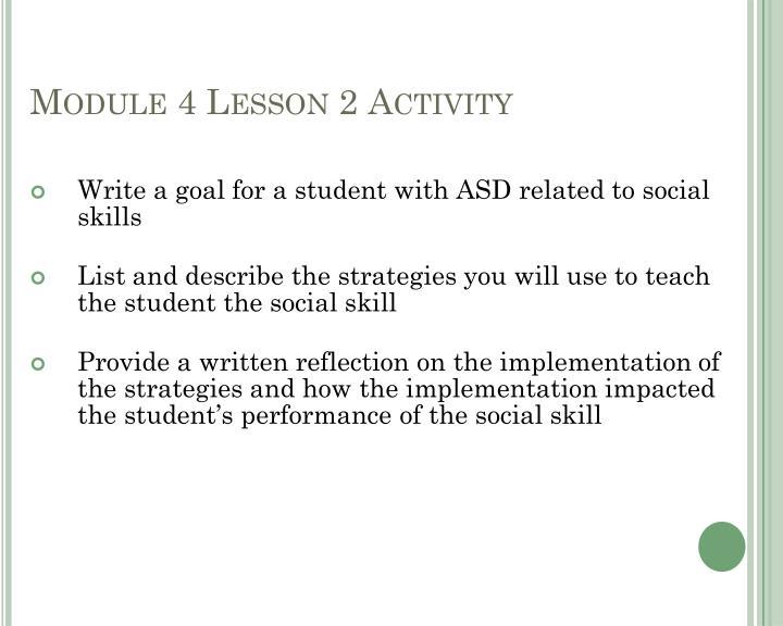 Module 4 Lesson 2 Activity