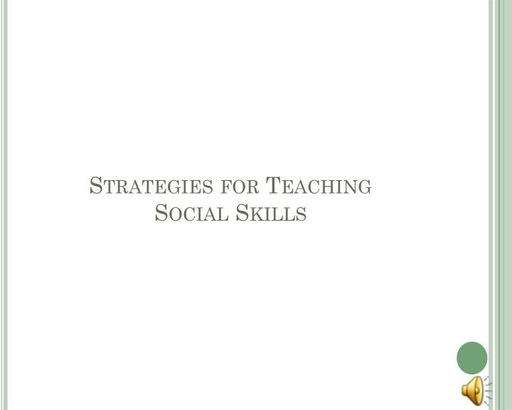 Strategies for Teaching