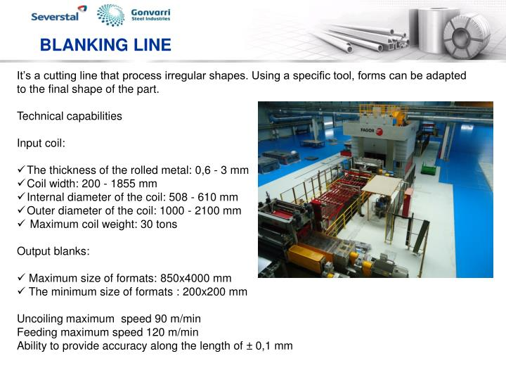 BLANKING LINE