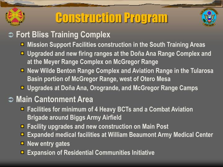 Construction Program