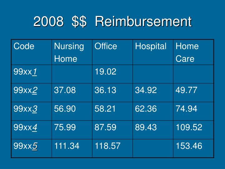 2008  $$  Reimbursement