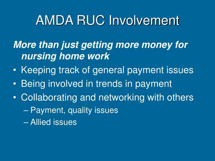 AMDA RUC Involvement