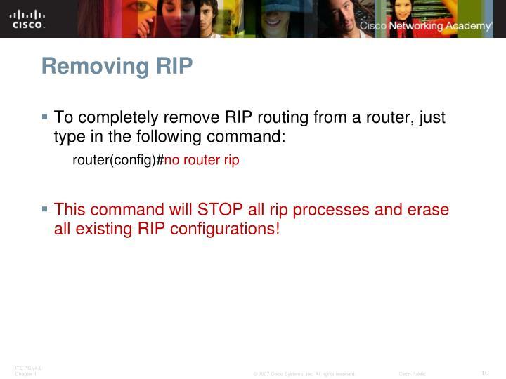 Removing RIP