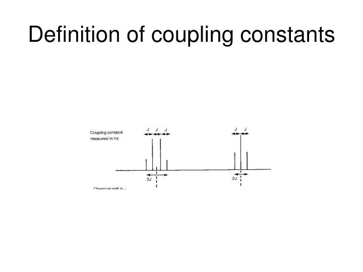 Definition of coupling constants