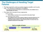 the challenges of handling target failures