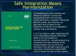 safe integration means harmonization