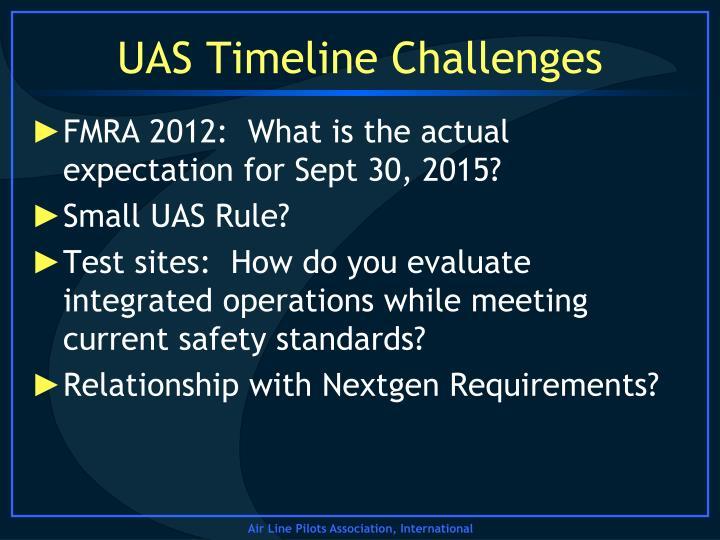 UAS Timeline Challenges
