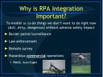 why is rpa integration important