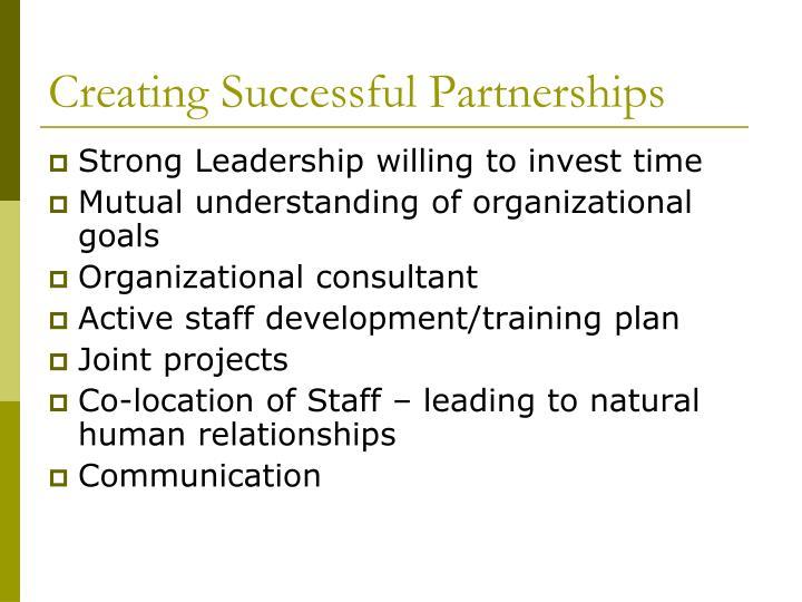 Creating Successful Partnerships