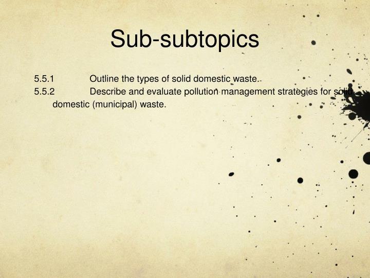 Sub-subtopics