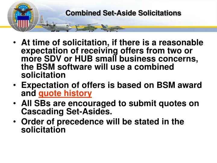 Combined SA Solicitation