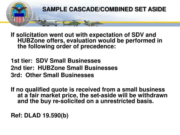 SAMPLE CASCADE/COMBINED SET ASIDE