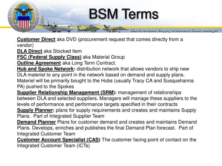 BSM Terms