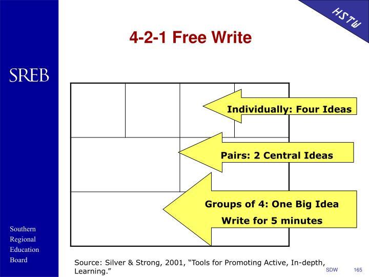 4-2-1 Free Write
