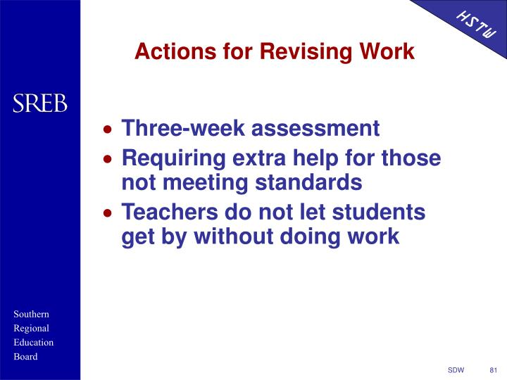Actions for Revising Work
