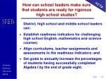 how can school leaders make sure that students are ready for rigorous high school studies
