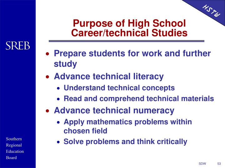 Prepare students for work and further study