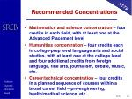 recommended concentrations
