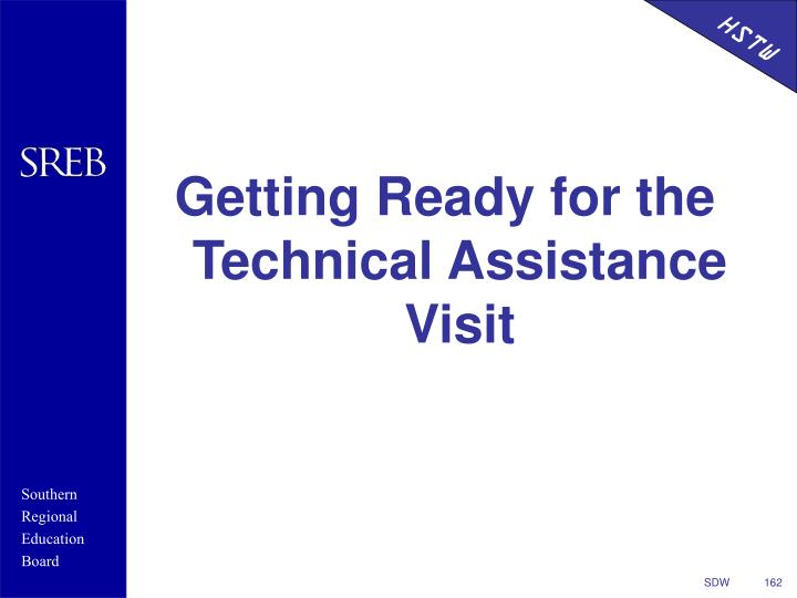Getting Ready for the Technical Assistance Visit