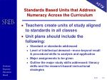standards based units that address numeracy across the curriculum
