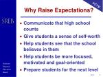 why raise expectations