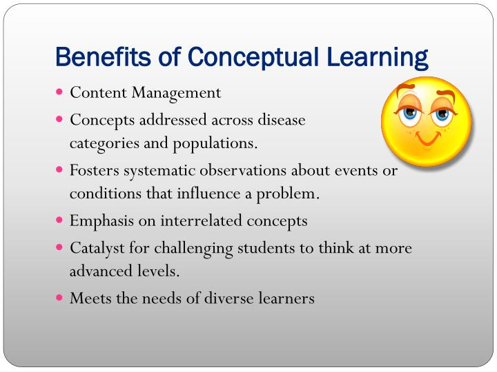Benefits of Conceptual Learning