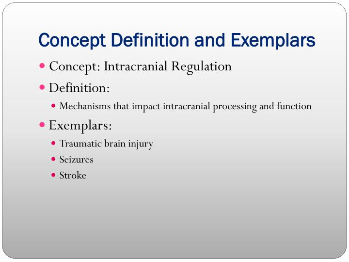 Concept Definition and Exemplars