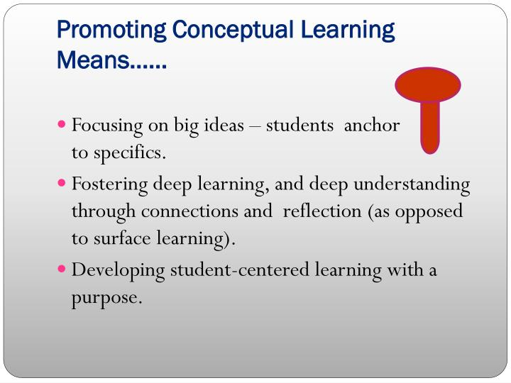 Promoting Conceptual Learning Means……